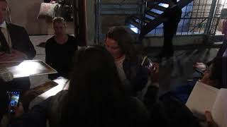 Chrissy Metz signing autographs outside of The Theatre at Ace Hotel