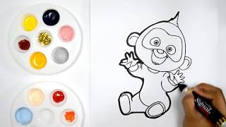 Colorear Dibujos De Los Increibles 2