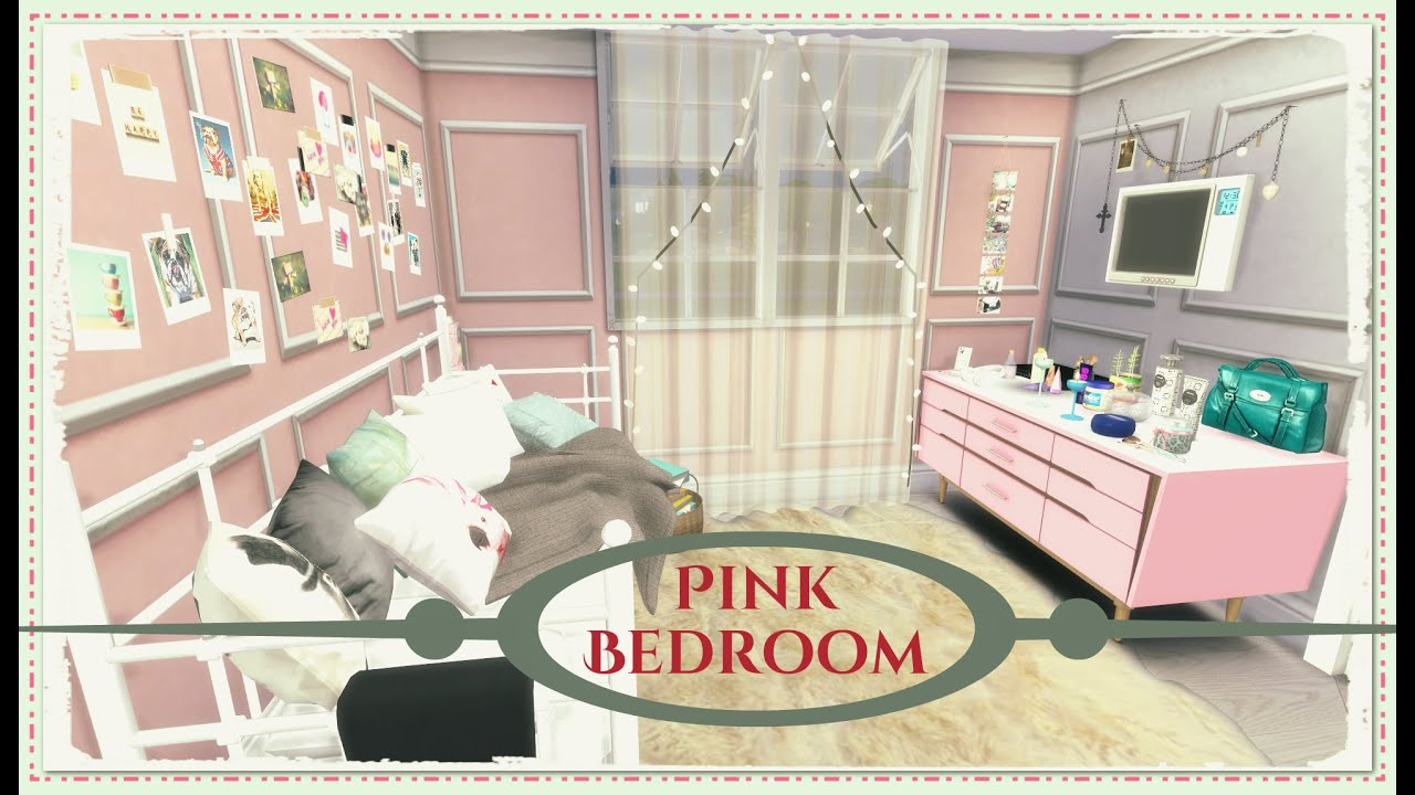 sims 4 - pink bedroom - youtube