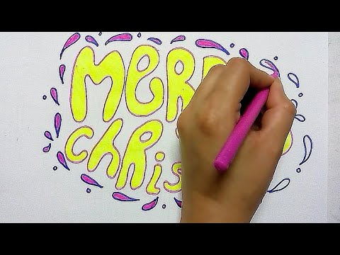 how to write merry Christmas in bubble letters