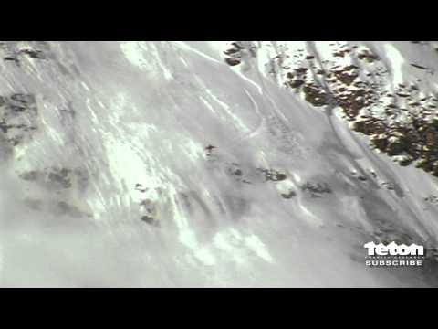 Freeskier gets away from giant AVALANCHE