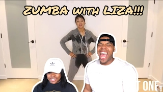 i got soaked zumba class with liza couples react