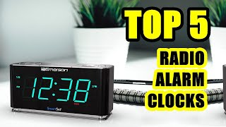 TOP 5: Best Radio Alarm Clock 2021 | LED Displays