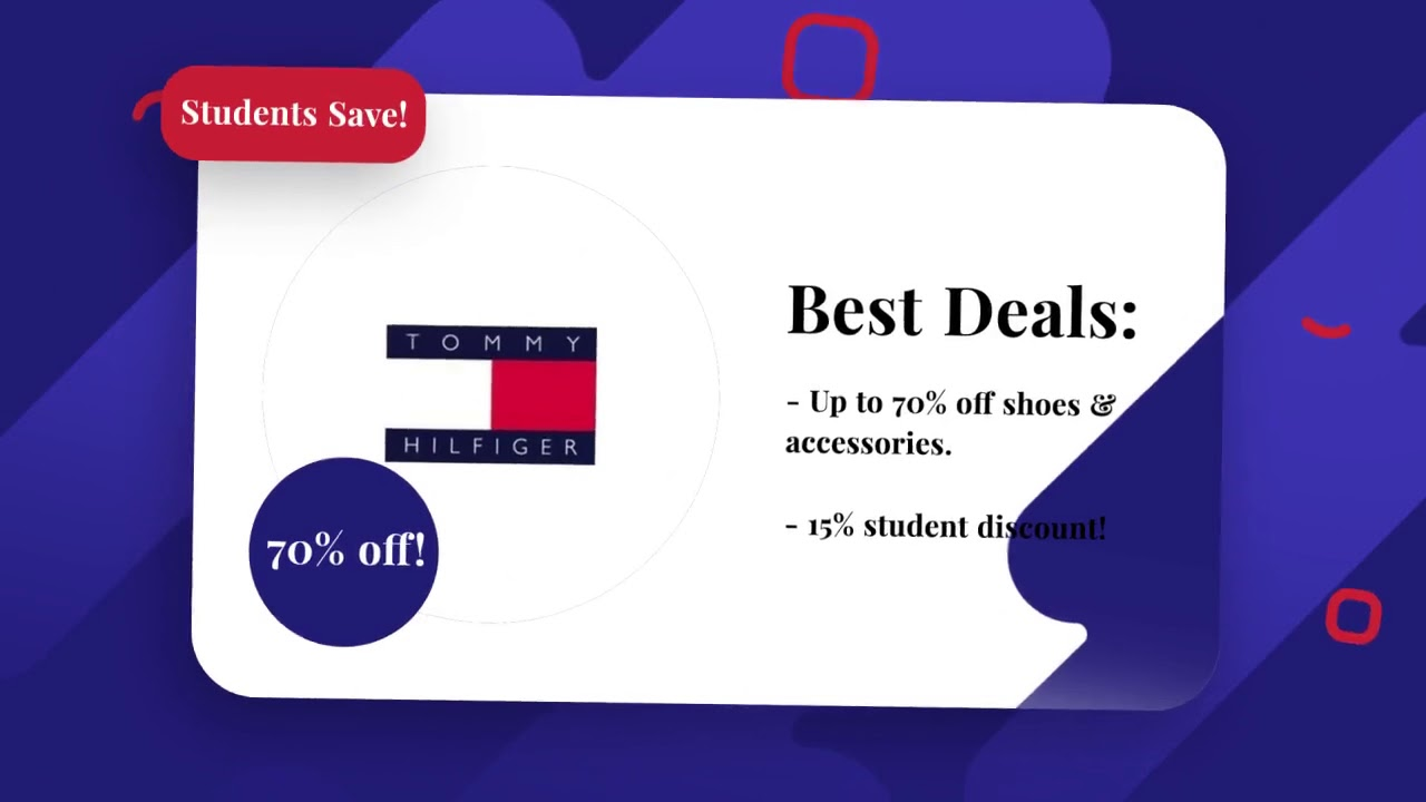 3468b1154e9 10-60% Off - Tommy Hilfiger Student Discount/Coupons!