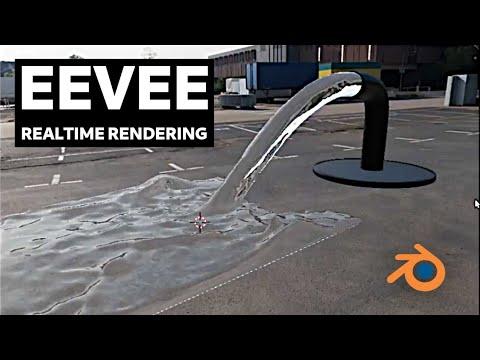 Blender Eevee - Rendering Fluid Simulation in Real-Time