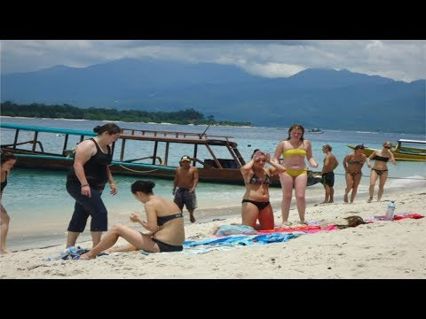 Intip Kampung Bule Gili Trawangan-Lombok, Tempat Turis......