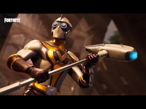 Fortnite battle royale squad season 4  Level 47 new burst omega unlocked new venturion