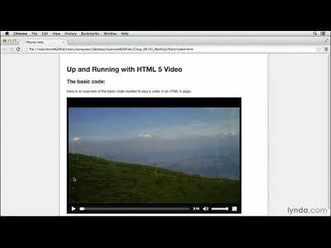 HTML5 Video Tutorial: Exploring The HTML5 Video Tag | Lynda.com