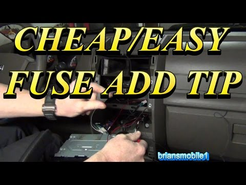 Easy Quick Add a Fuse Trick (radio install)