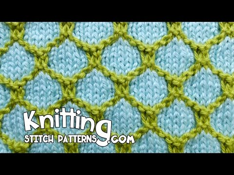 2 Color Honeycomb Knitting Youtube