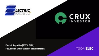 Electric Royalties (TSXV: ELEC) Interview with CRUX Investor