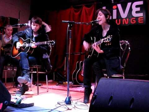 1/7 Tegan & Sara - Intro + On Directing (Acoustic) @ 88.5 Live Lounge, Ottawa, ON 1/23/10