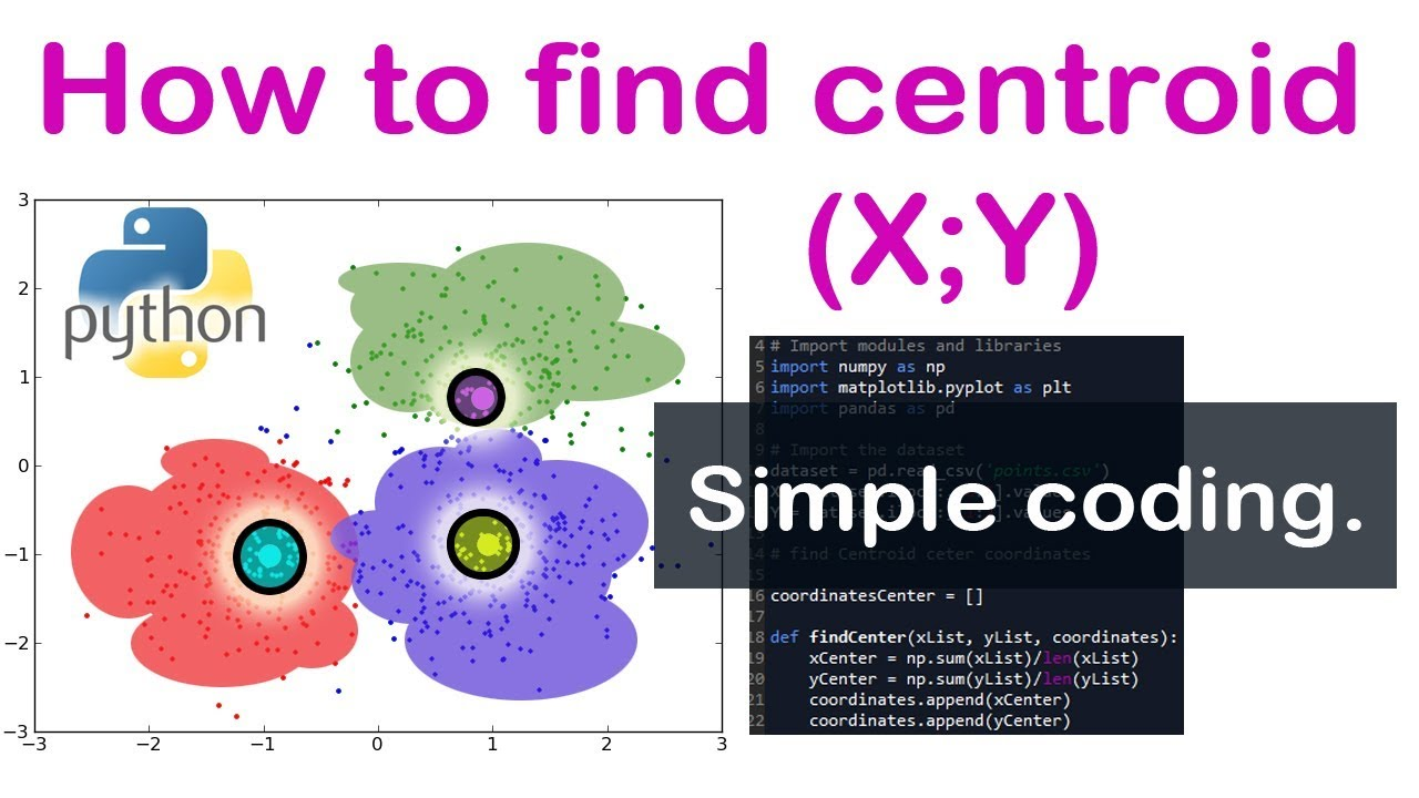 Python - How to Find Centroid coordinates among dataset of Points K Means  centroids