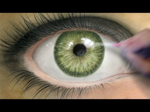 How To Paint A Realistic Eye Coloring Tutorial Youtube