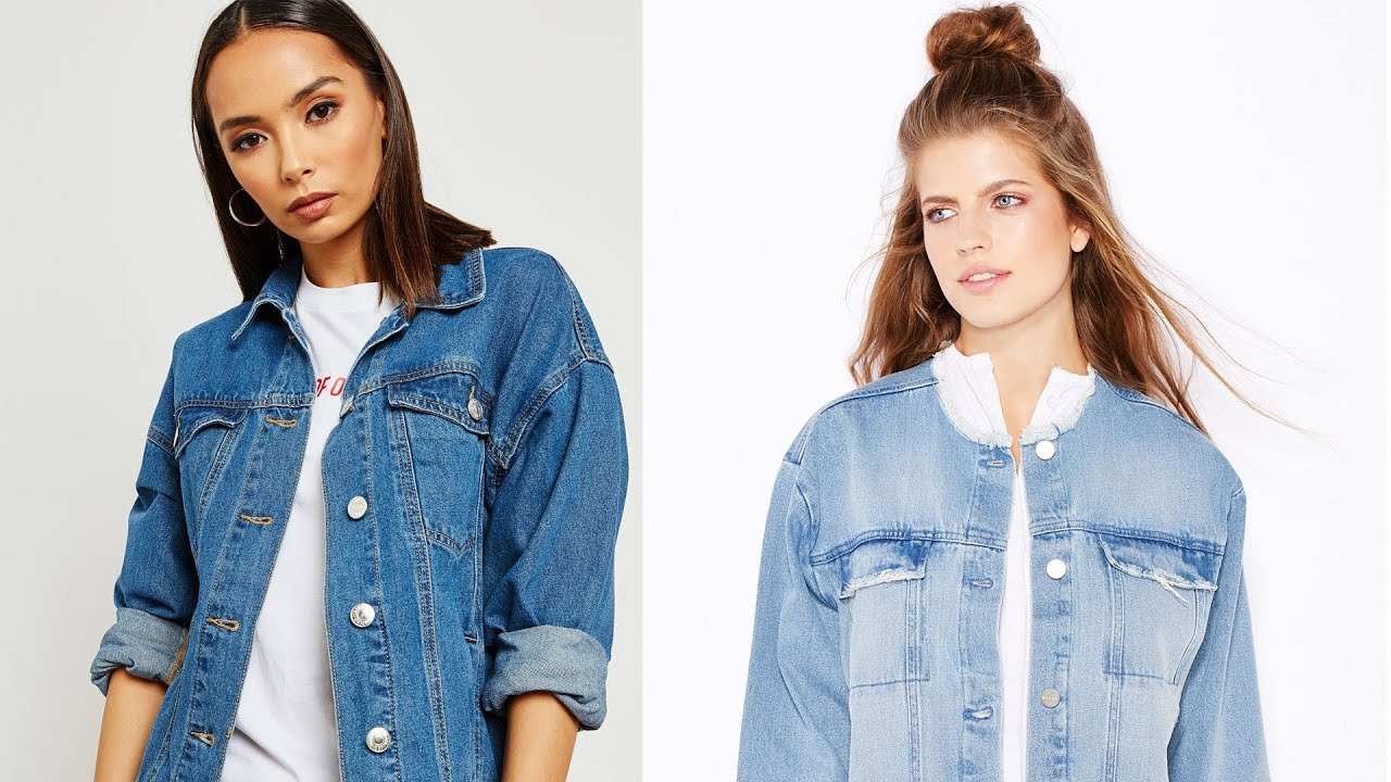 [VIDEO] - Denim Blue jean jackets for women | women outfits 2019 6