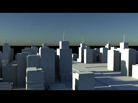 How to generate city in Maya 2018 and below
