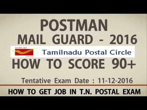 How to Score 90+ In Postman Mail Guard Exam 11-12-2016 - Full Syllabus & Steps to Prepare