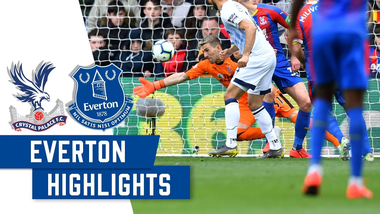Crystal Palace 0 0 Everton 2 Minute Highlights Youtube