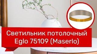 Светильник потолочный EGLO 75109 (EGLO 31624 MASERLO) обзор