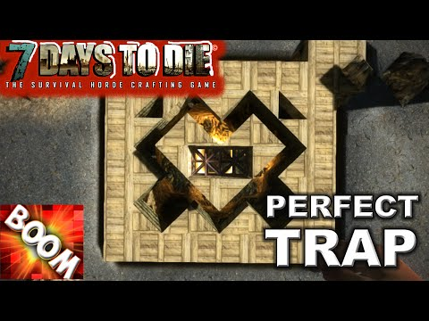 BEST FALL TRAP DEFENSE. ZOMBIE AI SCIENCE in 7 Days to Die