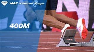 Wayde van Niekerk 43.73 vs Isaac Makwala 43.84 - IAAF Diamond League Monaco 2017