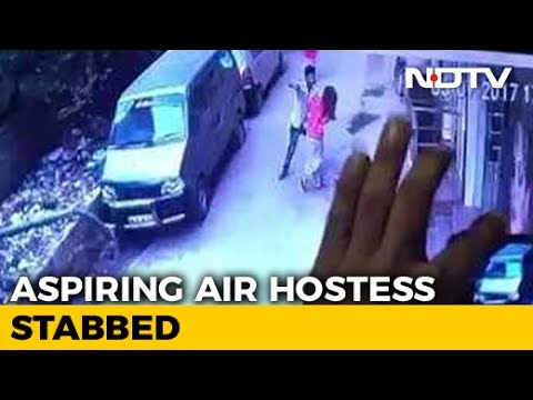 CCTV Shows Young Delhi Woman Being Stabbed By Man, She Died