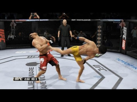 EA Sports UFC - Jose Aldo Vs. Bruce Lee - Featherweight Championship - PS4 Gameplay