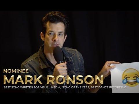 MARK RONSON LAUREN JAUREGUI JACKSON WANG ++ turn emojis into a playlist backstage at The GRAMMYs