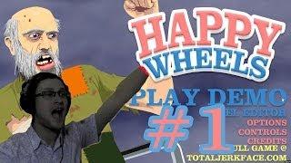 happy Wheels Прохождение  ПЕРВАЯ СМЕРТЬ!  #1