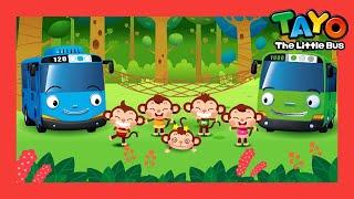 Tayo Lagu anak-anak Lima Monyet Kecil (lirik) Five Little Monkeys (11 menit) l Tayo Bus Kecil