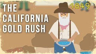 (Vahşi Batı)California Gold Rush çizgi film 1849
