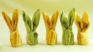 How To Make Easter Bunny Napkins