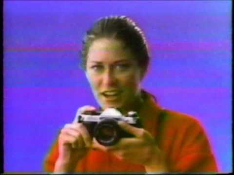 Canon AE-1 Program commercial with Jennifer Chandler (1984)