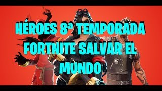 SEASON 8 FORTNITE SAVE THE WORLD -HEROES- LEARN TO READ WITH PIPO