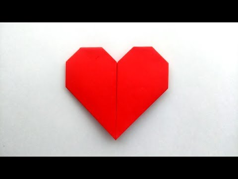 5 Ways to Make a Paper Heart WITHOUT GLUE. WITHOUT SCISSORS