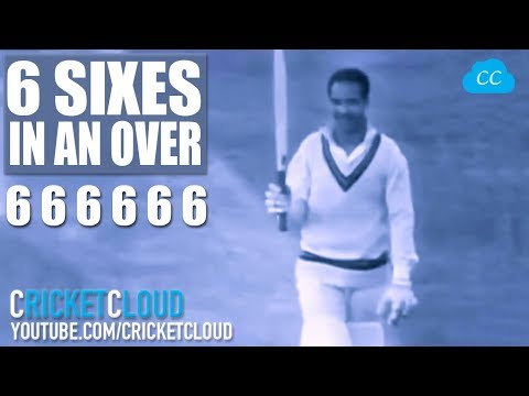 First 6 SIXES IN AN OVER - Sir Garfield Sobers First Man to Hit 6 6 6 6 6 6 in an OVER