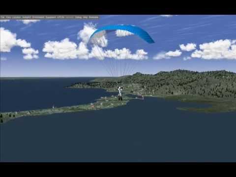 Flightgear: Paragliding over Netherlands Antilles