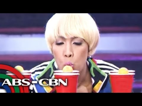 Vice Ganda plays on 'Minute To Win It'