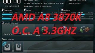 Overclock basico AMD A8 3870K A 3.3Ghz VS 3.4Ghz Y 3.5Ghz Z(AL SUITE II & ASUS F1A75 V-PRO)
