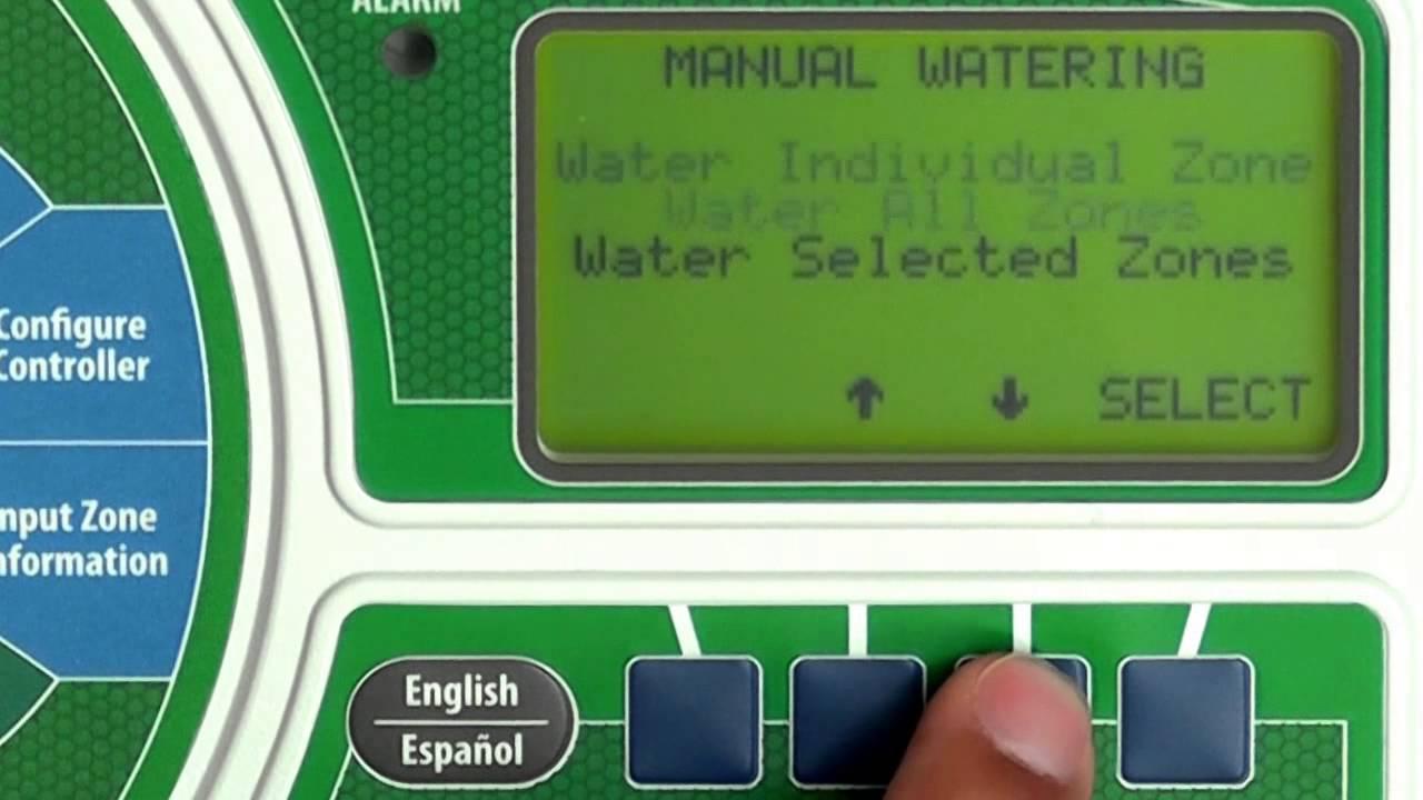 Rain Bird ESP-SMTe: Manual Watering