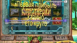 Пошла первая прибыль с партнерки казино.