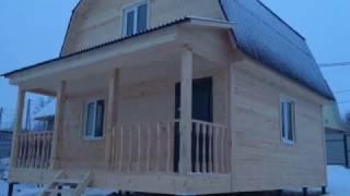 видео Дом из бруса 9х11 проект Тула