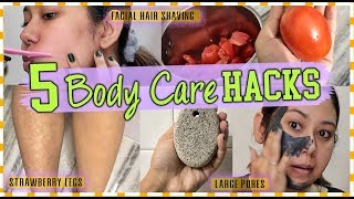 5 Problems- 5 Solutions : SUMMER BODYCARE HACKS  | Strawberry legs, large pores, facial hair!