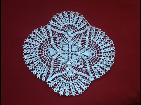 Crochet Oval Pineapple Lace Doily Part 1 Youtube