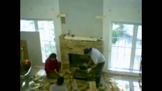 Stone Fireplace Construction Time Lapse