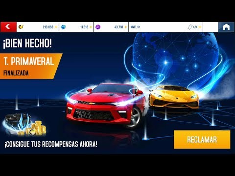 Asphalt 8: Recompensas T.Primaveral Mayo Windows & Android 2020