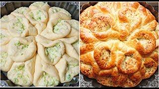 Вкусный луково - чесночный пирог- хлеб