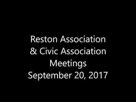 Reston Town Hall on  Fairfax County's Zoning Change to Reston