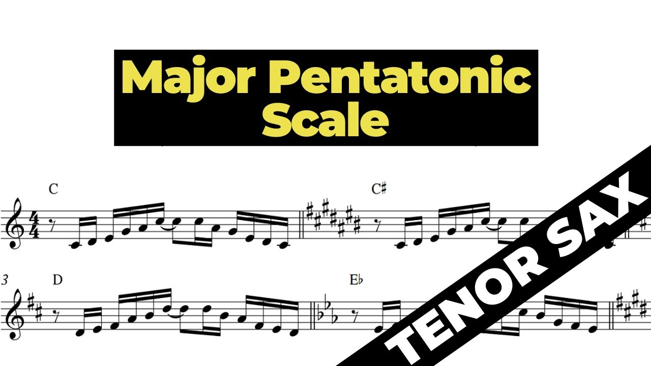 MAJOR PENTATONIC SCALE [tenor sax Bb] ESCALA PENTATÔNICA MAIOR