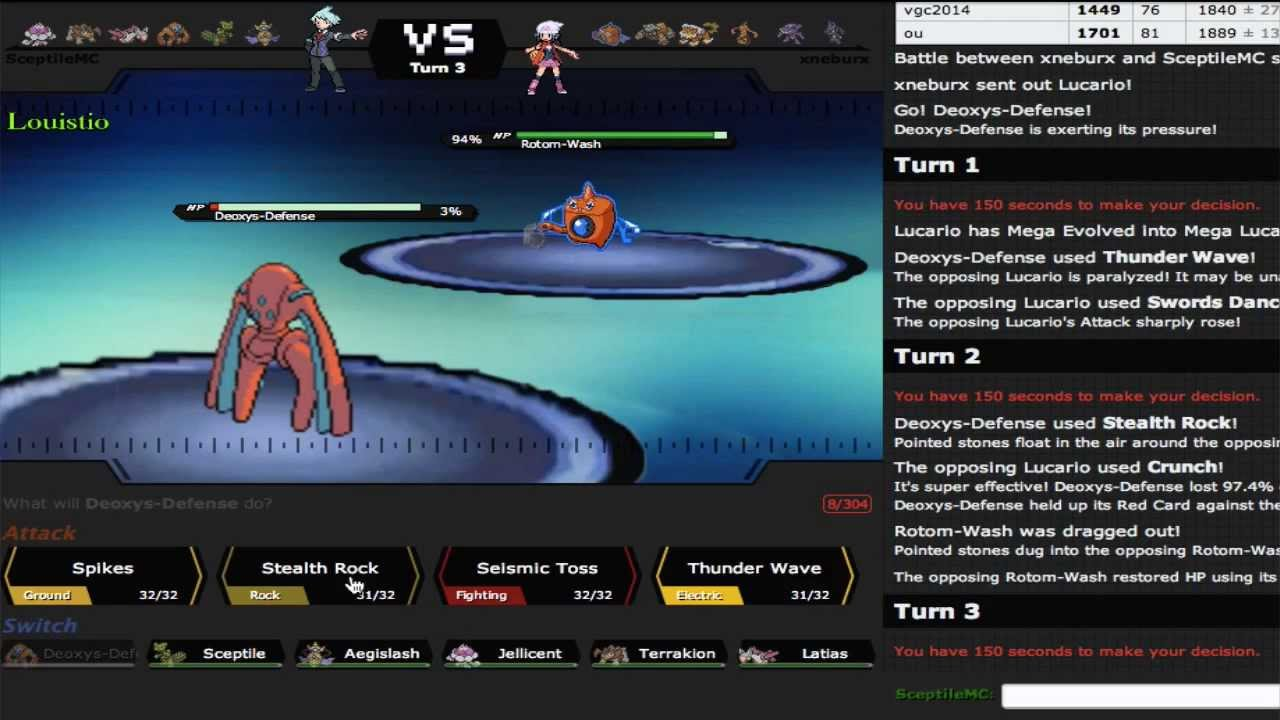 Pokemon Showdown Live #11 - Gen 6 OU: Natural Gift Sceptile - YouTube